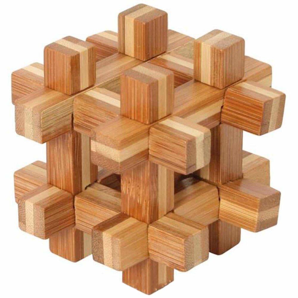 Puzzleportal Bambus Puzzle Kugel im Keafig 01