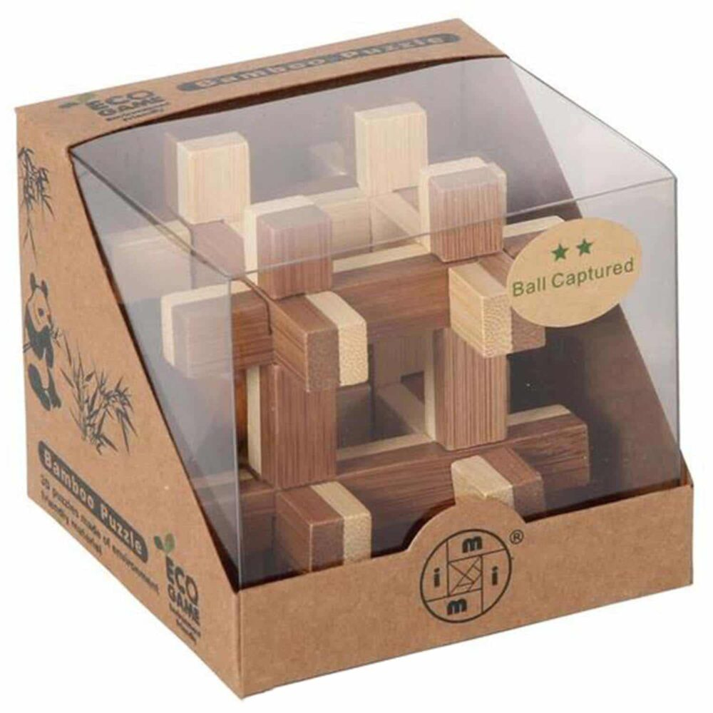 Puzzleportal Bambus Puzzle Kugel im Keafig 03