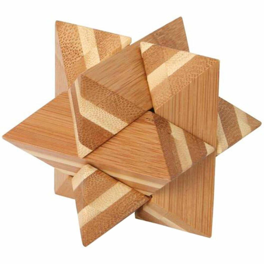 Puzzleportal Bambus Puzzle Stern 01