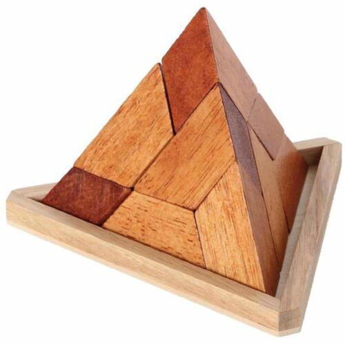 Puzzleportal Pyramide im Holzrahmen 01