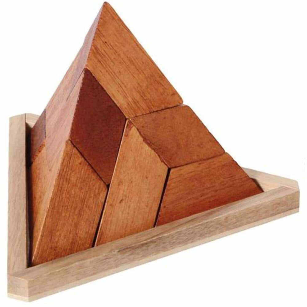 Puzzleportal Pyramide im Holzrahmen 02
