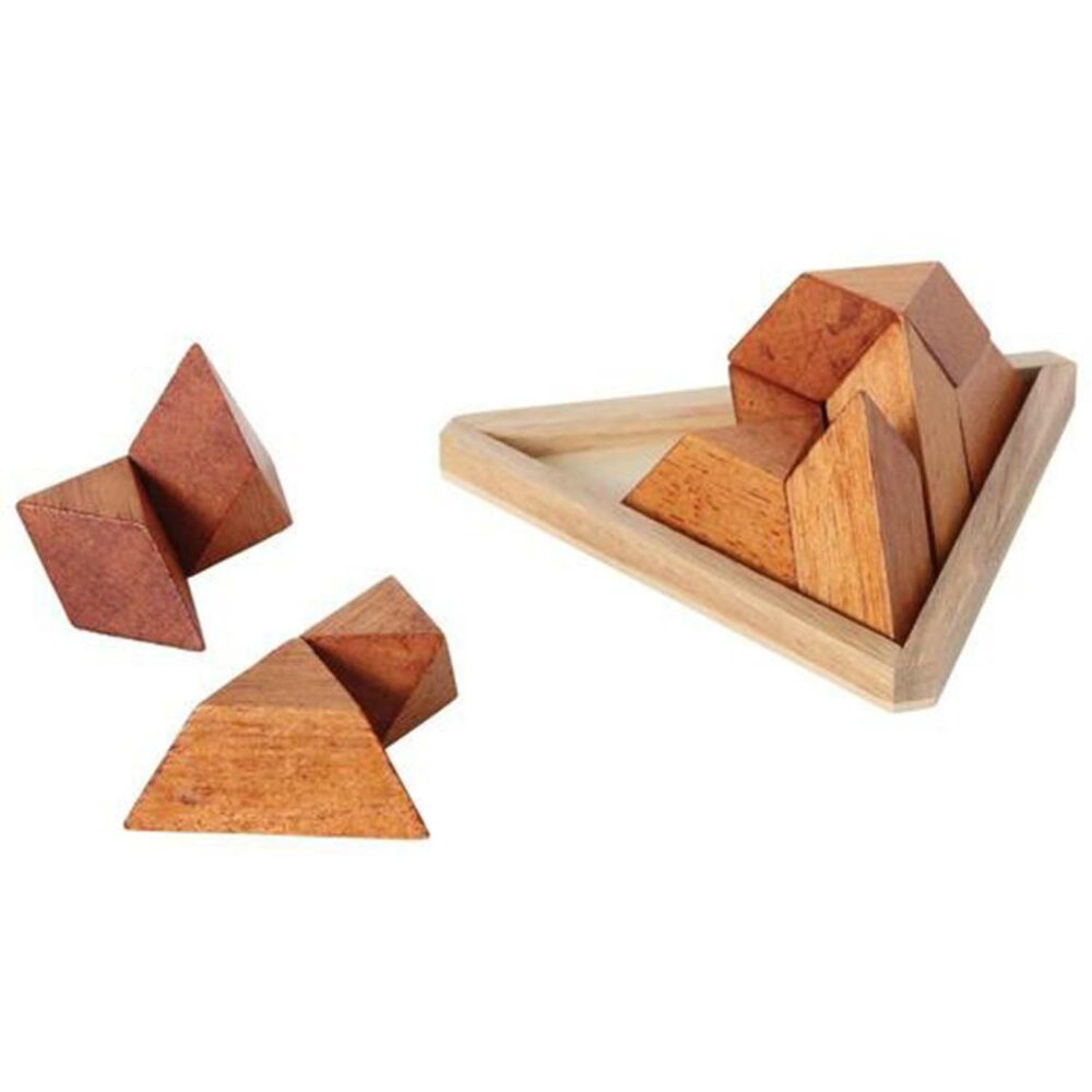 Puzzleportal Pyramide im Holzrahmen 03