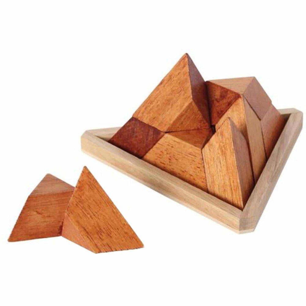 Puzzleportal Pyramide im Holzrahmen 04
